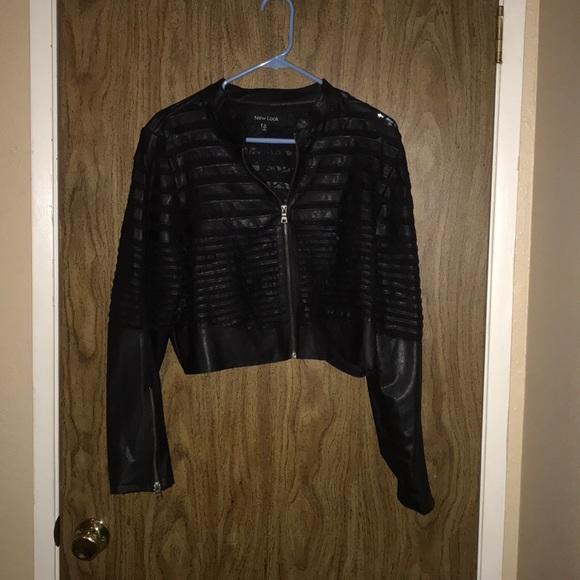e7183bb9252 Black Leather crop top jacket. M_5badcbda8ad2f9e392904f3c. Other Jackets &  Coats ...